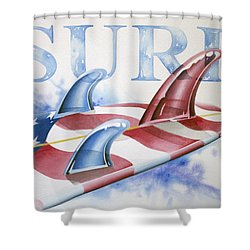 Surf Usa Shower Curtain