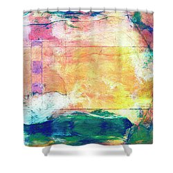 Shower Curtain featuring the painting Surface Vector by Dominic Piperata
