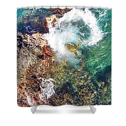 Surfacing Shower Curtain
