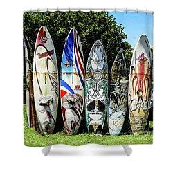 Surfboard Hana Maui Hawaii Shower Curtain