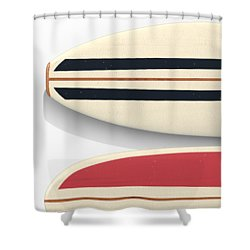 Shower Curtain featuring the digital art Surfboards Cell Phone Case by Edward Fielding