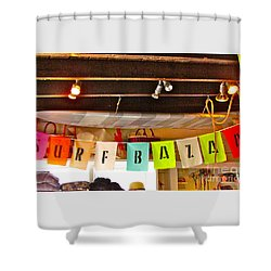 Shower Curtain featuring the photograph Surfer Bazaar by Beth Saffer
