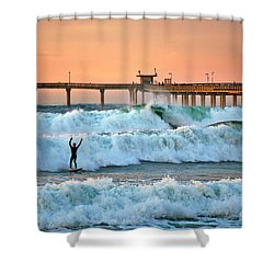 Surfer Celebration Shower Curtain