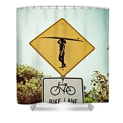 Shower Curtain featuring the photograph Surfer Girl by Ana V Ramirez