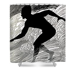 Surfer Shower Curtain by Hawaiian Legacy Archive - Printscapes