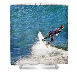Surfer, Steamer Lane, Santa Cruz, Series 19 Shower Curtain