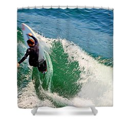 Surfer, Steamer Lane, Series 18 Shower Curtain