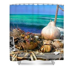 Surfer's Altar Shower Curtain