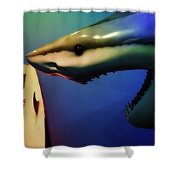 Surfers Beware Shower Curtain
