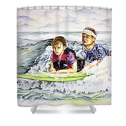 Surfers Healing Shower Curtain by William Love