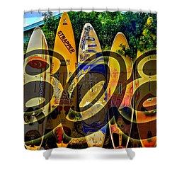 Surfin' 808 Shower Curtain