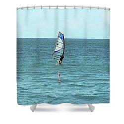 Surfing En Ocean Park Shower Curtain