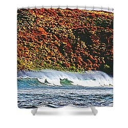 Surfing The Island Shower Curtain
