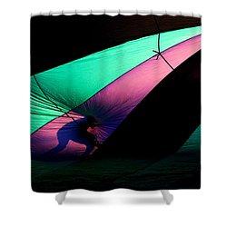 Surfing The Silk Shower Curtain by Mike  Dawson