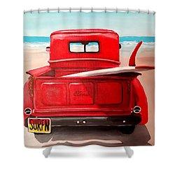 Surfn Shower Curtain