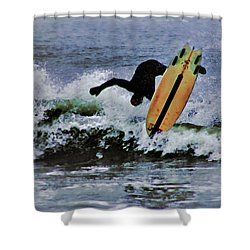 Surfs Up Shower Curtain by B Wayne Mullins