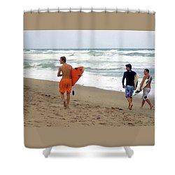 Surfs Up Boys Shower Curtain