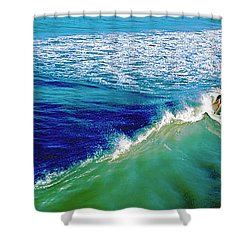 Surfs Up Daytona Beach Shower Curtain