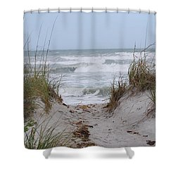 Surf's Up Shower Curtain by Judy Hall-Folde