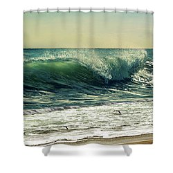 Shower Curtain featuring the photograph Surf's Up by Laura Fasulo