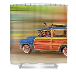 Shower Curtain featuring the photograph Surf's Up by Susan Rissi Tregoning