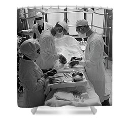 Shower Curtain featuring the photograph Surgical Theater - Chicago 1941 by Daniel Hagerman