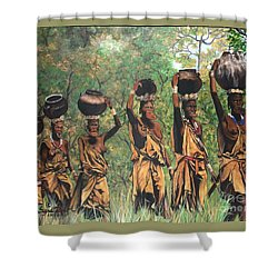 Blue Cat Productions        Surma Women Of Africa Shower Curtain