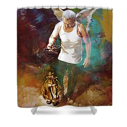 Shower Curtain featuring the painting Surreal Art  by Gull G