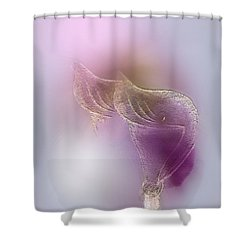 Shower Curtain featuring the digital art Surreal Calla 2 by John Krakora
