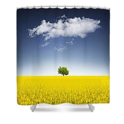 Surreal Canola Field Shower Curtain