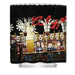 Surreal Carnival Shower Curtain by Dave Martsolf
