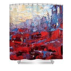 Surreal City Shower Curtain by NatikArt Creations