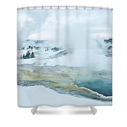 Surreal Landscape Shower Curtain