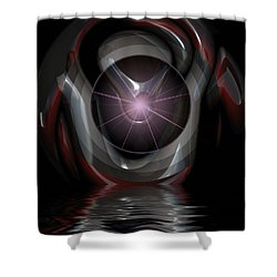 Surreal Reflections Shower Curtain by Mario Carini