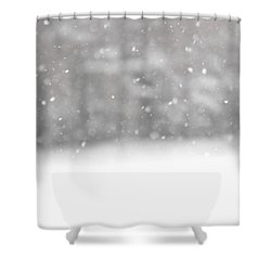 Surreal Snowdrops Shower Curtain