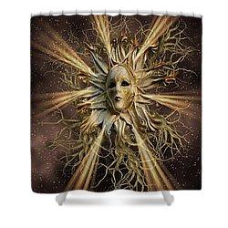 Surreal Sun Beam Shower Curtain
