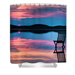 Shower Curtain featuring the photograph Surreal Sunset by Gert Lavsen