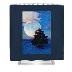 Surreal Winter Shower Curtain