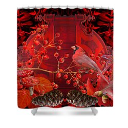Surrealism Of Nature Autumn Colors Shower Curtain