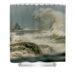 Surrender Shower Curtain by Everet Regal
