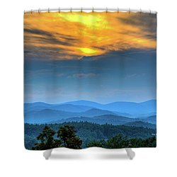 Surrender The Day Shower Curtain by Dale R Carlson