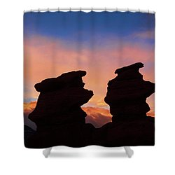 Surrender To The Infinite, Unbounded, Pure Consciousness  Shower Curtain