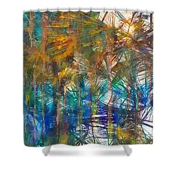 Surrender To The Light Shower Curtain by Claire Bull