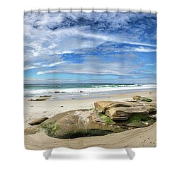 Shower Curtain featuring the photograph Surrounded By Beauty by Peter Tellone