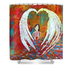 Surrounded By Love Shower Curtain