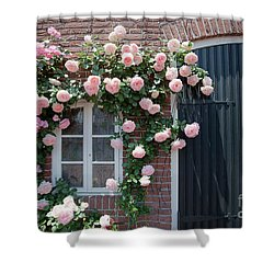 Surrounded By Roses Shower Curtain