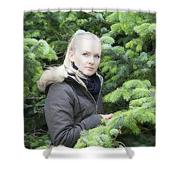 Surrounded By Trees Shower Curtain