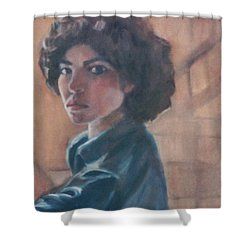 Susan Berger - Suzn Smith - Self Portrait Shower Curtain
