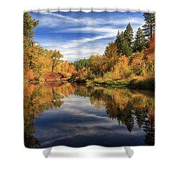 Susan River 10-28-12 Shower Curtain by James Eddy