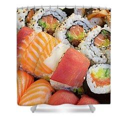 Sushi Dish Shower Curtain